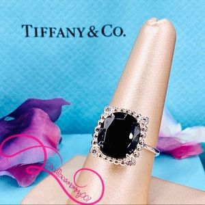 RARE T&Co. Ziegfeld Black Spinel & Diamond Ring